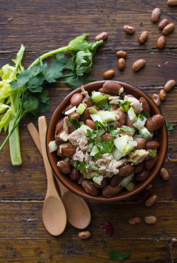 Easy Borlotti Bean Salad