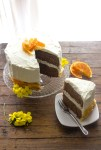 Dark Chocolate Orange Cake, an easy delicious healthy dark chocolate cake recipe. With a creamy cream cheese frosting. The perfect dessert.