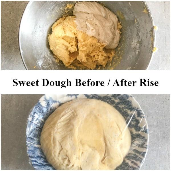 easter sweet bread sweet dough rise