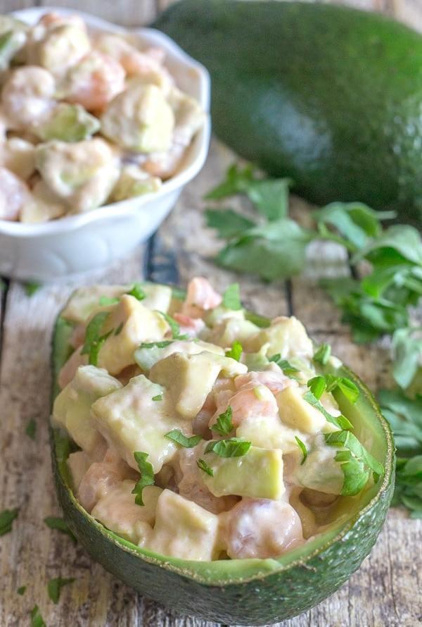 Easy Shrimp Stuffed Avocado