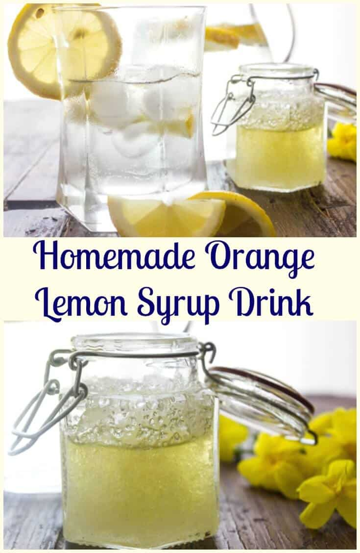 Homemade Orange Lemon Syrup Drink, a delicious refreshing easy drink recipe made from candied peel, a good for you anytime drink.