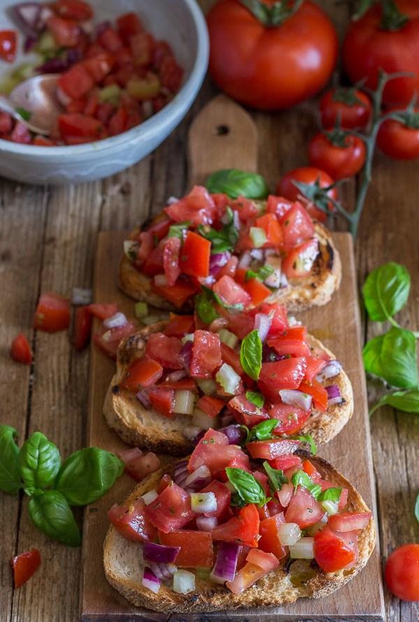 Easy Italian Tomato Bruschetta