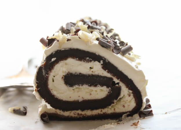 Chocolate Tiramisu Cake Roll, an easy cake recipe, mocha cake, with a creamy eggless Tiramisu filling, the perfect anytime dessert.