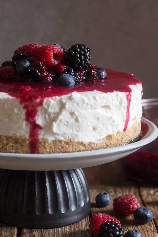 No Bake Mixed Berry Cheesecake An Italian In My Kitchen