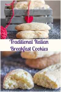 Traditional Italian Breakfast Cookies, a fast & easy cookie recipe, crunchy on outside and soft inside. Perfect for breakfast or snack. #cookies #Italian #breakfast #snack