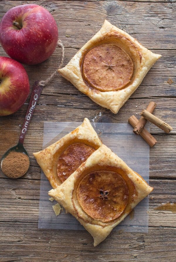 Cinnamon Apple Puff Pastry Squares
