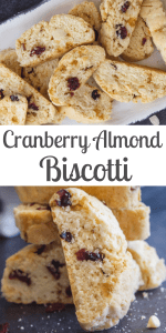 Cranberry Almond Biscotti, a delicious crunchy Italian Cookie, with dried cranberries, Almonds & White Chocolate Chips.The perfect Fall & Holiday Cookie. #almondbiscotti #biscotti #cookies #Italiancookies #cantucci #Christmascookies #fallcookies