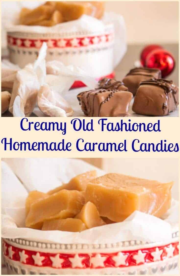 Creamy Old Fashioned Caramel Candies - An Italian in my Kitchen