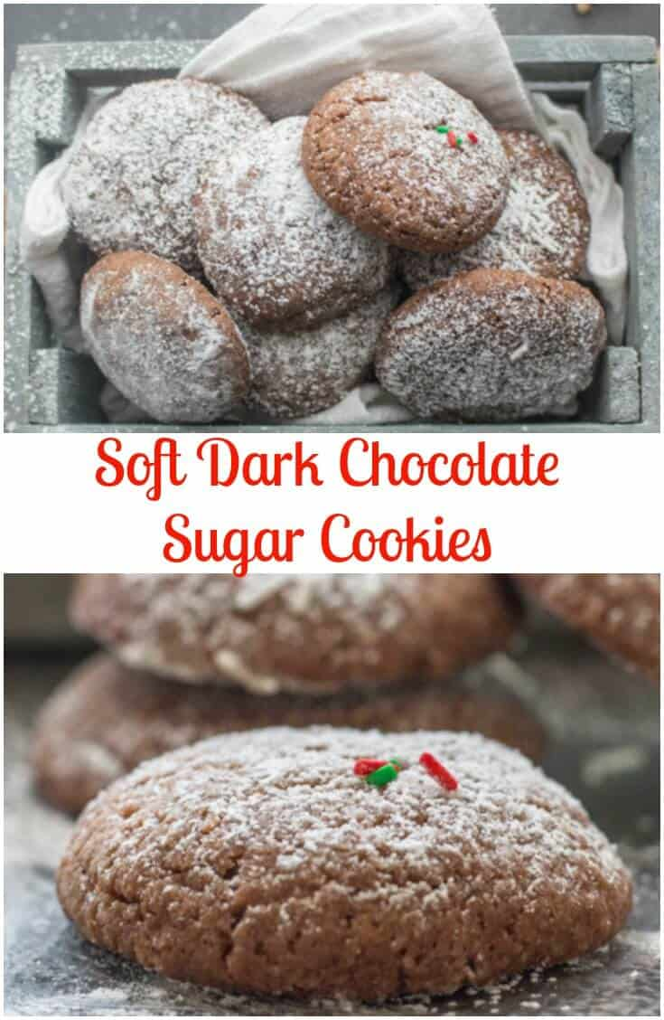 Soft Dark Chocolate Sugar Cookies - An Italian in my Kitchen