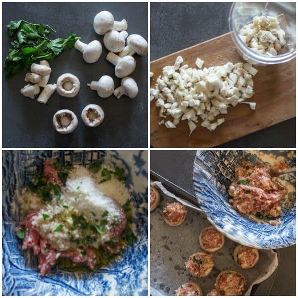 Baked Italian Sausage and Parmesan Stuffed Mushrooms, fast and easy stuffed mushroom recipe, Sausage & Parmesan make them irresistible.