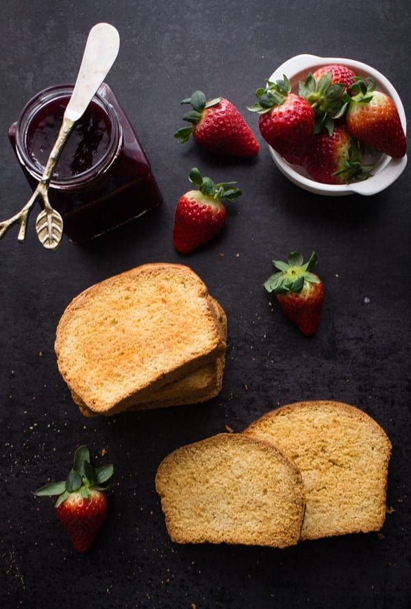 Italian Homemade Breakfast Biscotti, the perfect double baked sweet bread crunchy sweet breakfast treat. Top with your favourite jam.