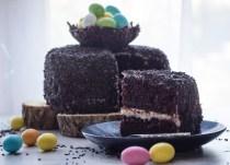 Chocolate Easter Egg Nest Cake, a deliciously Chocolatey Cake