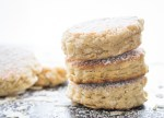 Cinnamon Almond Welsh Cakes, a delicious easy stove top scone, perfect dessert or snack, with a how to video.