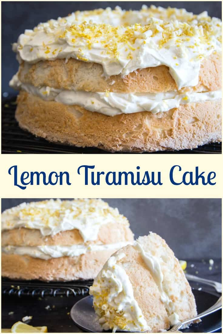 Lemon Tiramisu Cake, white chocolate, whipped cream and mascarpone make this no egg Tiramisu Cake Recipe perfectly delicious.