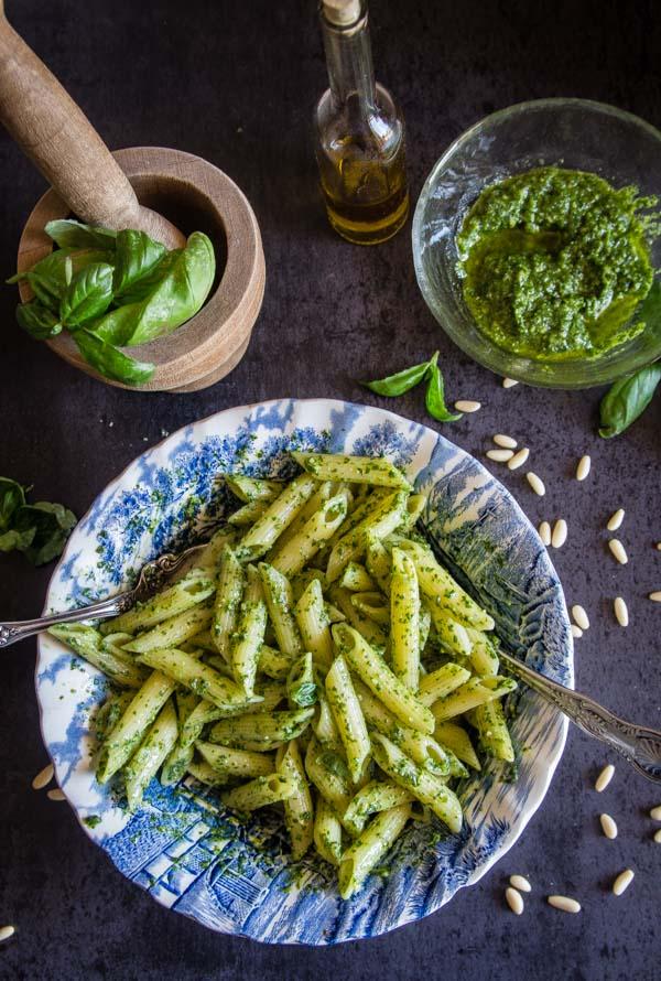 Easy Classic Basil Pesto An Italian In My Kitchen