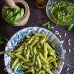 Classic Basil Pesto, an easy homemade delicious pesto recipe. Made in 5 minutes with fresh basil.