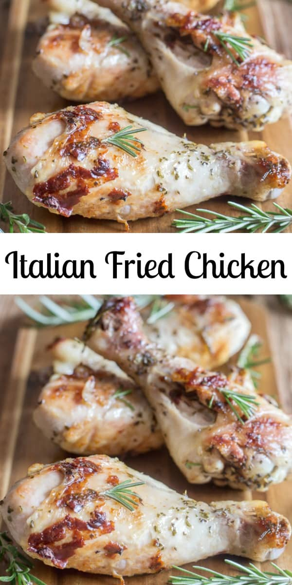 Italian Fried Chicken,a delicious moist and tender chicken dish. Made with fresh Italian spices, a fast and easy skillet fried chicken recipe, the perfect weeknight recipe. #chicken #Italian #dinner #easy