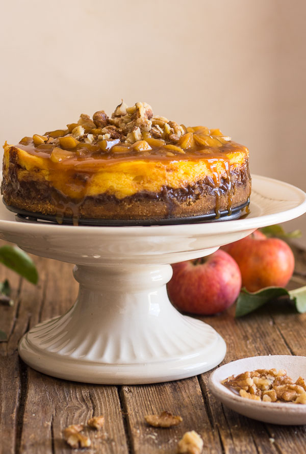 Maple Caramel Apple Cheesecake