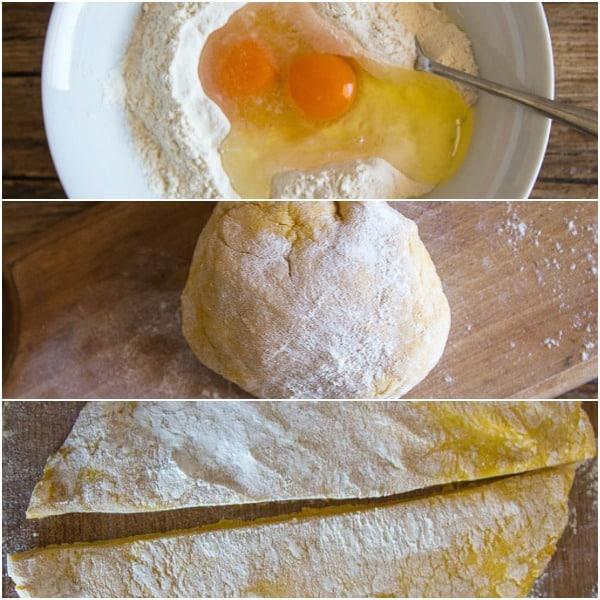 3 how to photos to make egg pasta