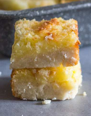 Easy Pineapple Coconut Squares, a buttery shortbread base and a delicious Coconut Pineapple filling makes this the perfect square.