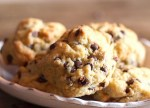 chocolate chip cookies in a dish
