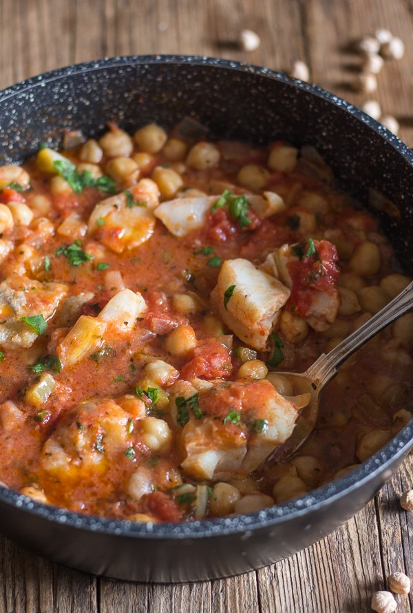 Traditional Italian Baccala with Chickpeas