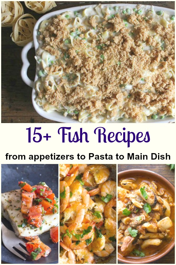 Recipes for fish dishes an italian in my kitchen a selection of fish dishes shrimp tuna baked fish save fish recipes forumfinder Images