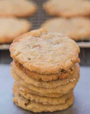 pecan cookies stacked