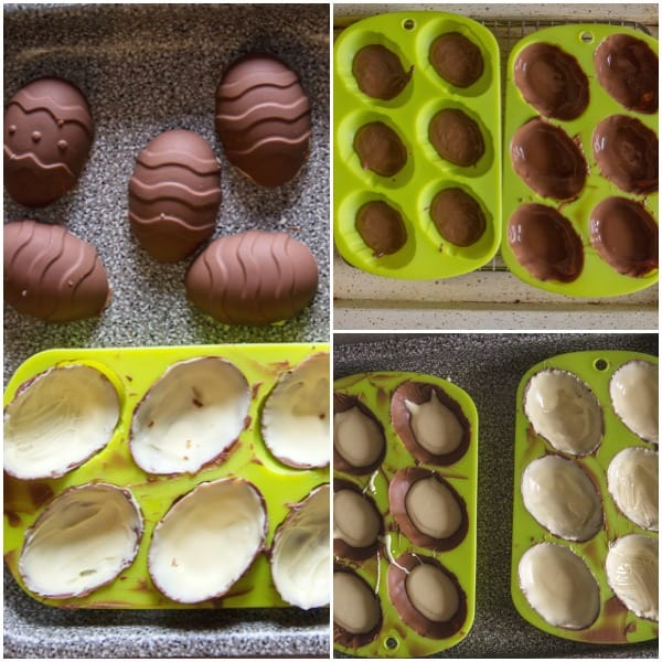 double chocolate easter eggs how to make in the the mold and hardened