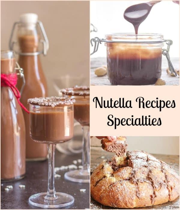 3 types of nutella recipes specialties