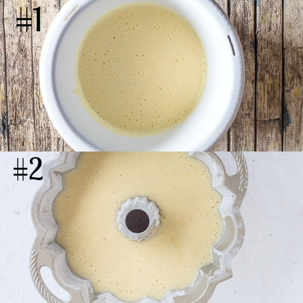 lemon cake how to make beaten and in the pan to bake