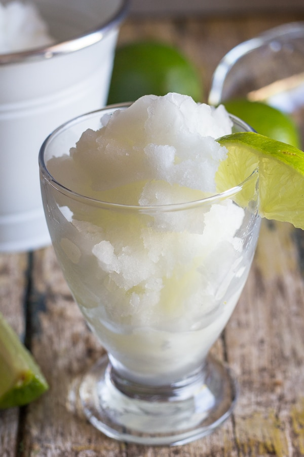 granita made in ice cream maker