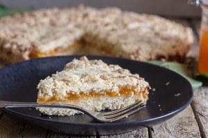a slice of crumb pie
