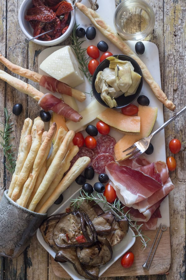 grissini appetizer board
