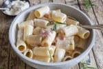 mascarpone pasta in a bowl