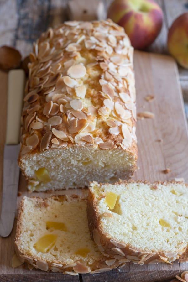 slices of peach bread