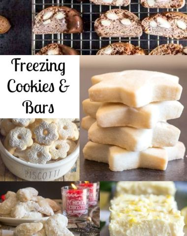 freezing cookies and bars different cookies in a collage