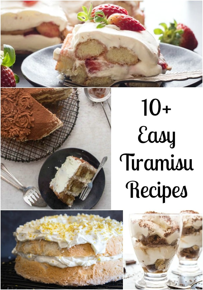 10 + tiramisu recipes
