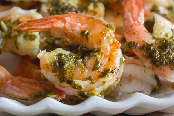 up close baked shrimp