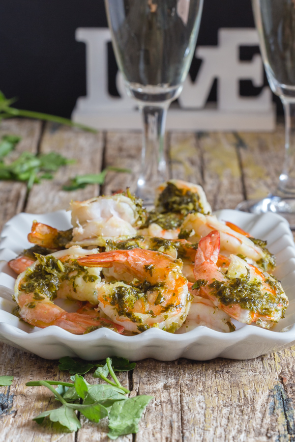 baked shrimp on a white plate