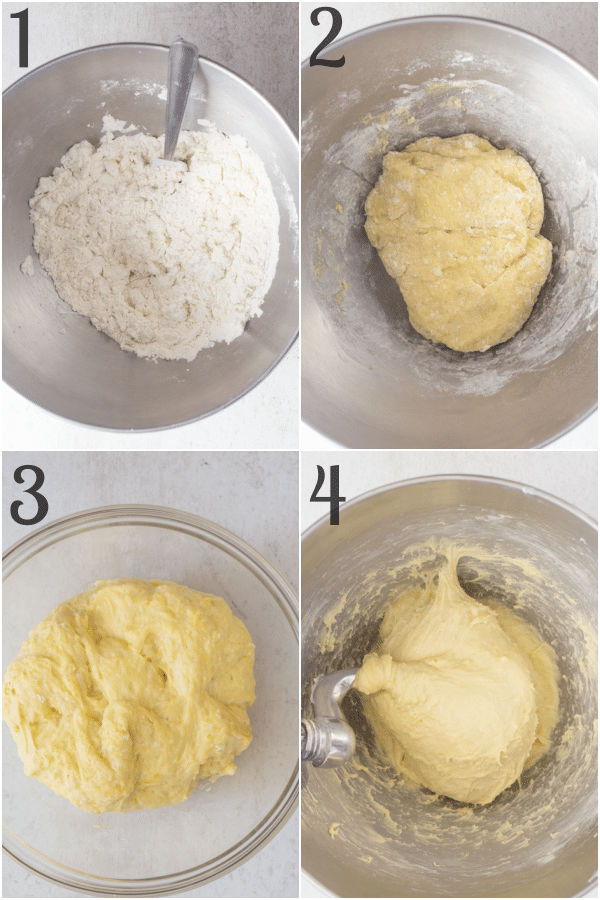 how to make easter bread mixing the dough and the first rise