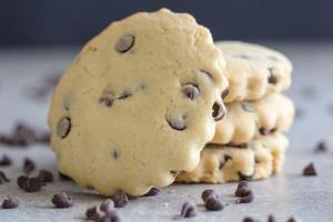 chocolate chip cookies on a white board