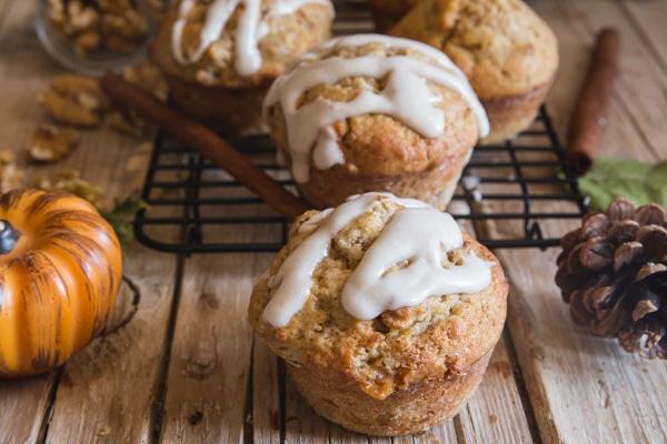 pumpkin muffins on a wire rack