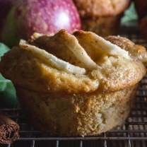 apple muffin on a wire rack