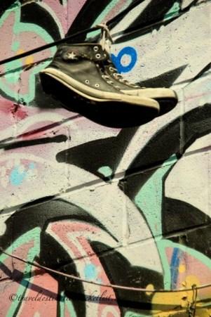 shoe and graffiti
