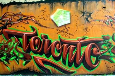Toronto - Graffiti Tour - Wild style graffiti