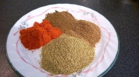 Cumin, coriander, garam masala and paprika powder
