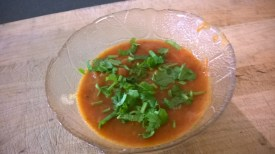 Salsa with coriander leaves