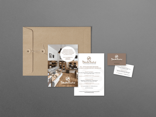 BEUTEFUCHS Business Cards and Flyer