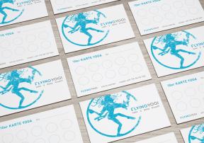 FLYING YOGI Logo and Point Card